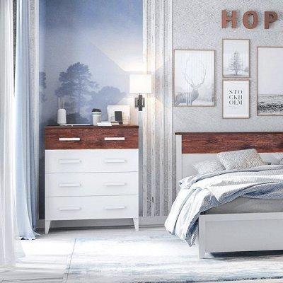 Мебель от производителя. Комоды и тумбы от 3483 руб — Новинка! Спальня Норвуд