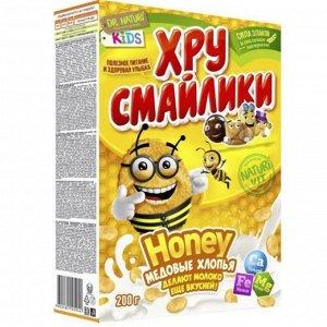 Хрусмайлики  Хлопья кук. Honey медовые 200 гр.кор