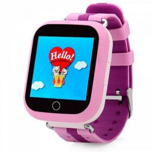 1142 Детские часы с GPS-модулем Smart Baby Watch Q100 Wonlex (розовый)