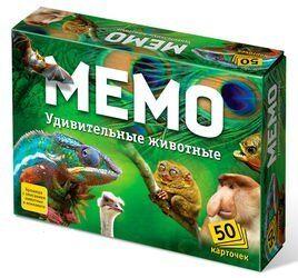 Настольная игра Мемо Удивительные животные