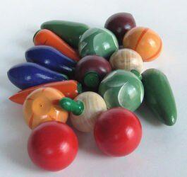 Игрушечный набор Овощи деревянные крашеные (16 шт)