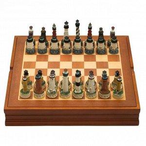 "Шахматы сувенирные ""Морской ориентир"" (доска 36х36х6 см, h=8 см, h=6 см)"