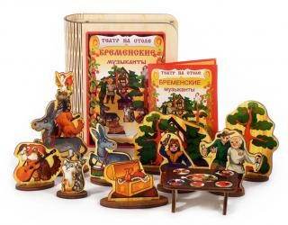 Нескучные игры. Настольные игры, пазлы, развивающие игрушки — Театр на столе, сказки на магнитах