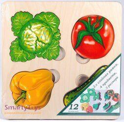Рамка-вкладыш Овощи Больше-меньше (7912)