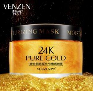 Ночная крем-маска с Ниацинамидом Venzen 24k Pure Gold ,120гр