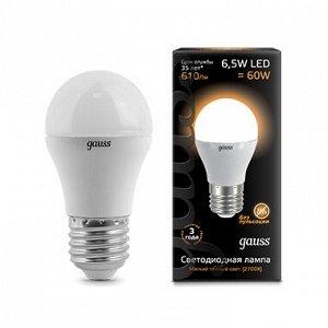 Лампа Гаусс LED Globe E27 6.5W 3000K