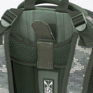 "Ранец BRAUBERG PREMIUM, 2 отделения, с брелком, ""Army"", 38х29х16 см, 228783"