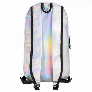 Рюкзак STAFF FASHION AIR компактный, блестящий, ЧИЛ, серебристый, 40х23х11 см, 270300