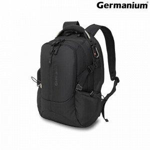 """Рюкзак GERMANIUM """"S-02"""" универсальный, с отделением для ноутбука, усиленная ручка, черный, 47х31х16 см, 226948"""