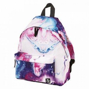 Рюкзак BRAUBERG универсальный, сити-формат, Aquarelle, 20 литров, 41х32х14 см, 229878