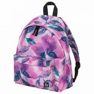 Рюкзак BRAUBERG универсальный, сити-формат, Flowers, 20 литров, 41х32х14 см, 229884