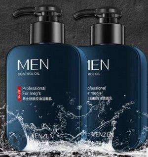 Мужской гель для умывания MEN Control Oil длительная свежесть VENZEN, 168г