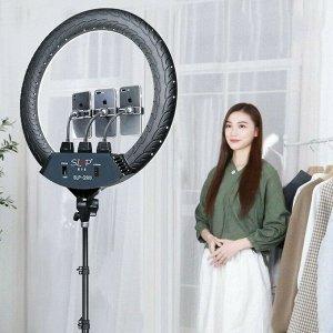 Кольцевая лампа напольная (45 см) для фото и видеосъемки SLP G500 (черная) с регулировкой яркости