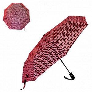 Зонт ЦВЕТ: ярко-розовый,  Замеры модели* * рост указан приблизительно, ориентируйтесь на замеры *Размер 95 см (диаметр купола 95 см) Стильный зонт, декорированный абстрактным принтом. Тип зонта - авт
