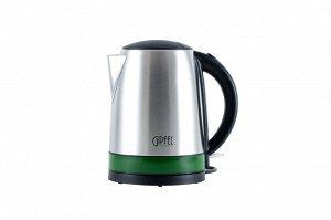 2005 GIPFEL Чайник электрический для кипячения воды, 1.7 Л. Материал: нерж сталь, пластик. Цвет ободка: зеленый.