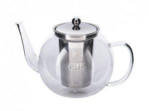 8540 GIPFEL Чайник заварочный SOFIE 1200мл Материал корпуса: боросиликатное стекло. Материал фильтр-сита и крышки: нержавеющая сталь