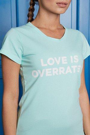 Футболка Love is overrated #287073