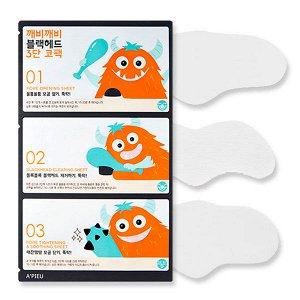 Набор для очищения носа от черных точек A'Pieu Goblin Blackhead 3-Step Nose Pack, 3 мл