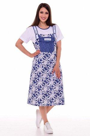 Платье женское 4-089 (джинс)