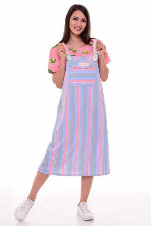 Платье женское 4-088 (коралл)