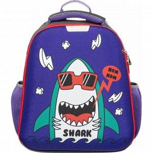 Ранец №1School Basic Shark 2 отд
