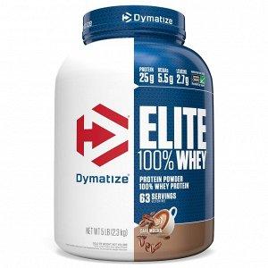 Dymatize Nutrition, Elite, порошок 100% сывороточного протеина, кофе мокко, 2,27 кг (5 фунтов)