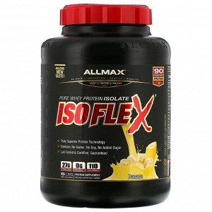 ALLMAX Nutrition, Isoflex, чистый изолят сывороточного белка (фильтрация ИСБ частицами, заряженными ионами), со вкусом банана, 2,27 кг (5 фунтов)