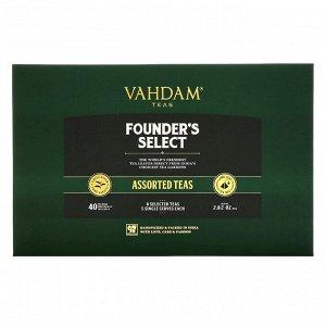 Vahdam Teas, Founder's Select, ассорти чаев, 40 чайных пакетиков, 80 г ,(2,82 унции)
