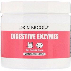 Dr. Mercola, Пищеварительные ферменты, Для кошек и собак, 150 г (5,29 унции)