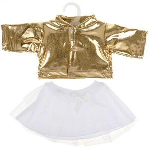 OTF-2101SS-RU Одежда для кукол 40-42см костюм золотистая куртка и юбка КАРАПУЗ в кор.100шт