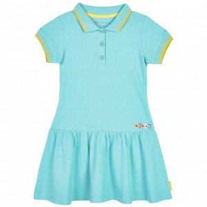 Платье для девочки, бирюзовый