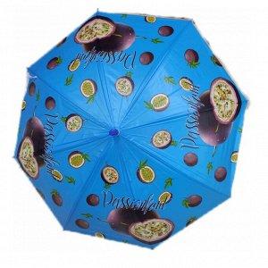 Зонт Зонт с ягодами и фруктами - незаменимый детский аксессуар в непогоду. Он защитит ребенка от дождя и подарит ему хорошее настроение. Каркас и спицы этого изделия изготовлены из крепкого материала