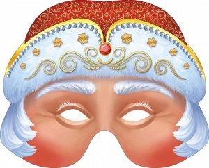 "Картонная маска ""Дед Мороз"" на резинке"