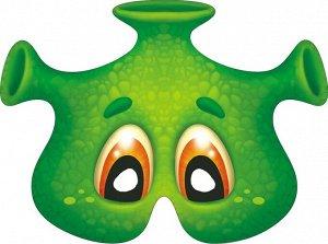 """Картонная маска """"Инопланетянин"""" на резинке"""