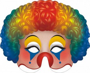 "Картонная маска ""Клоун"" на резинке"