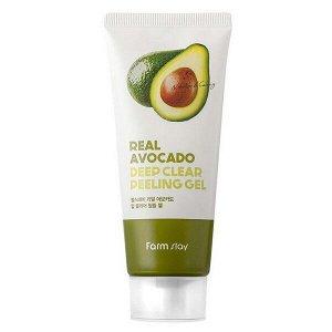 Пилинг-гель с экстрактом авокадо FarmStay Real Avocado Deep Clear Peeling Gel, 100ml