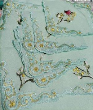 Скатерть Элитная с вышивкой 12 салфеток 150х220