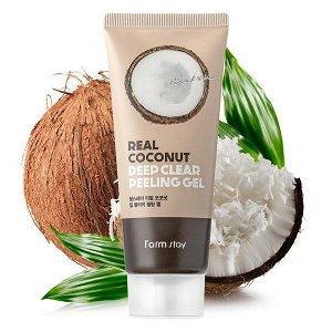 Пилинг-гель с экстрактом кокоса FarmStay Real Coconut Deep Clear Peeling Gel, 100ml