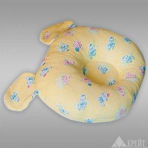 Подушка ортопедическая для детей до года (желтая, мишка) П-220М РОССИЯ