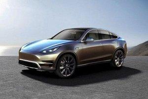 Коврик в багажник Tesla Model Y 4WD (1 поколение) (2019 - н.в.) левый руль