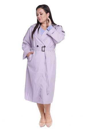 Тренч-5041 Материал: Плащевая ткань; Цвет: Фиолетовый; Фасон: Тренч; Длина рукава: Длинный рукав; Параметры модели: Рост 168 см, Размер 54 Тренч женский сиреневый Стильный тренч оверсайз из мягкой пла