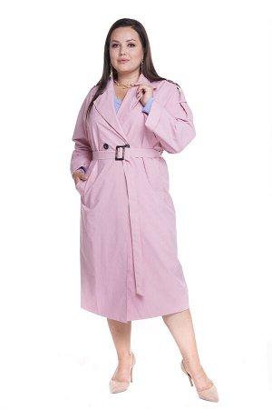 Тренч-4855 Материал: Плащевая ткань; Цвет: Розовый; Фасон: Тренч; Длина рукава: Длинный рукав; Параметры модели: Рост 168 см, Размер 54 Тренч женский розовый Стильный тренч оверсайз из мягкой плащевой