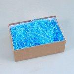 """Голубой наполнитель для упаковки подарков (стружка из бумаги) """"Волна"""""""