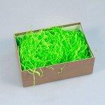 """Наполнитель для упаковки подарков зелёное яблоко (стружка из бумаги) """"Волна"""""""