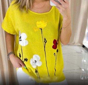 Блузка Яркая новиночка - блузка создающие настроение Ткань - лен