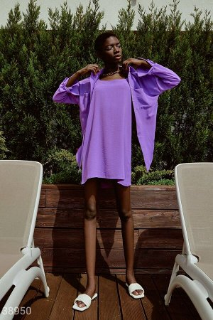 Фиолетовый костюм с платьем