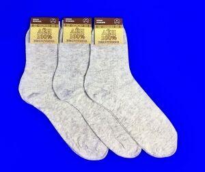 Белорусские носки мужские лён сетка
