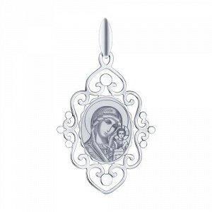 Серебряная иконка арт 029