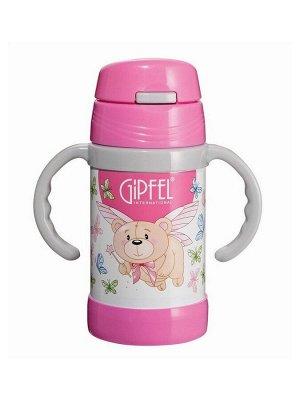 8137 GIPFEL Вакуумный термос с двойными стенками CONTO 12,5х16,3см 260мл Цвет розовый Материал: S/S #304 (18/8)
