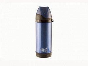 8303 GIPFEL Термос вакуумный 370мл. Материал: нерж сталь 18/10, пластик, силикон. Цвет: синий